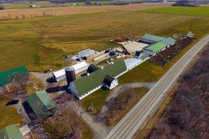 Aerial view Miranda Cheesery
