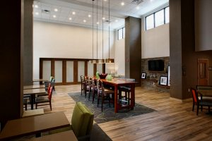 Hampton Inn and Suites Lobby and Community Table