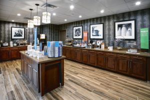 Hospitality Industry Architectural Photography of a Hampton Inn and Suites Breakfast Area